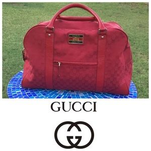 RARE!  Gucci limited edition canvas duffle bag